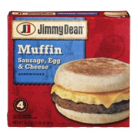 Jimmy Dean Muffin Sandwiches Sausage, Egg And Cheese - 4 CT / 18.4 OZ