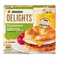 Jimmy Dean Delights Croissant Turkey Sausage, Egg White And Cheese Sandwiches - 4 CT / 19.2 OZ