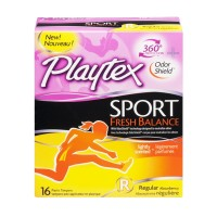 Playtex Plastic Tampons - Sport Fresh Balance - Regular - Lightly Scented - 16 CT