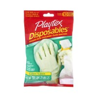 Playtex One Size Disposable Latex Gloves - 10 CT