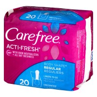 Carefree Acti-Fresh Regular Liners Unscented - 20 CT