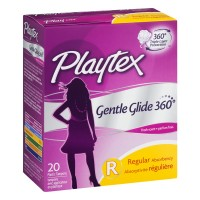 Playtex Gentle Glide Regular Deoderant Plastic Tampons - 20 CT