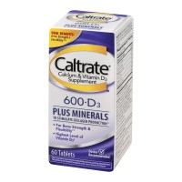 Caltrate Calcium & Vitamin D3 Supplement 600 + D3 Plus Minerals Tablets - 60 CT