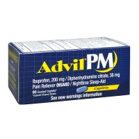 Advil PM Ibuprofen 200 mg Coated Caplets - 80 CT