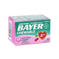 Bayer Aspirin Regimen Pain Reliever Low Dose Chewable Tablets Cherry - 81mg