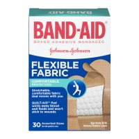 Band-Aid Brand Adhesive Bandages Flexible Fabric Assorted Sizes - 30 CT
