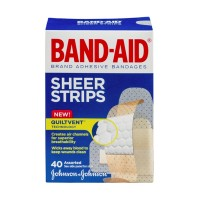 Band-Aid Comfort Sheer Strips Assorted - 40 CT