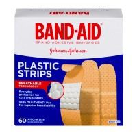 Band-Aid Plastic strips - 60 CT