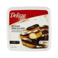Delizza Patisserie Belgian Mini Eclairs - Custard Cream - 30 CT / 14.8 OZ