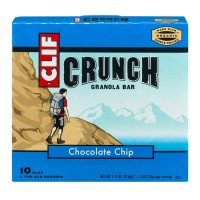 Clif Crunch Granola Bar Chocolate Chip Bars - 10 CT