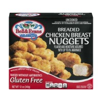 Bell And Evans Air Chilled Breaded Chicken Breast Nuggets - Gluten Free - 12 OZ
