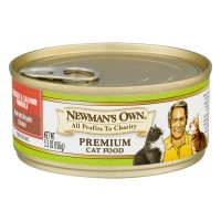 Newman's Own Chicken & Salmon Formula Premium Cat Food - 5.5 OZ