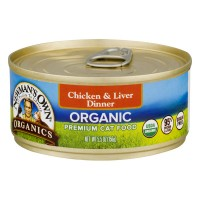 Newman's Own Organics Organic Premium Cat Food Chicken & Liver Dinner - 5.5 OZ
