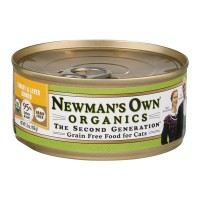 Newman's Own Organics Grain Free Food for Cats Turkey & Liver Dinner - 5.5 OZ
