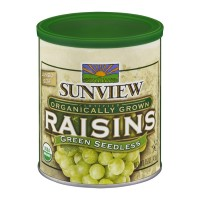 Sunview Organic Raisins Green Seedless - 15 OZ