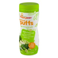 HappyBaby Organics Superfood Puffs Apple And Broccoli - 2.1 OZ