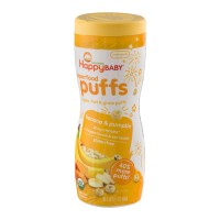 HappyBaby Organics Organic Superfood Puffs Banana And Pumpkin - 2.1 OZ