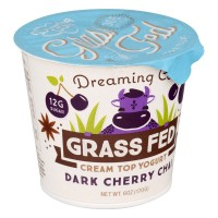 Dreaming Cow Grass Fed Cream Top Yogurt Dark Cherry Chai - 6.0 OZ