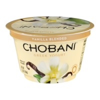 Chobani Greek Non-Fat Yogurt - Vanilla Blended 5.3 OZ