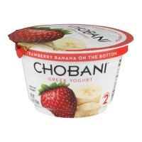 Chobani Greek Low-Fat Yogurt - Strawberry Banana 5.3 OZ