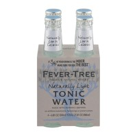 Fever-Tree Premium Natural Mixers - Naturally Light Tonic Water - 4 CT / 6.8 FL OZ