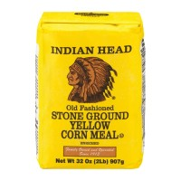 Indian Head Stone Ground Yellow Corn Meal 32 OZ