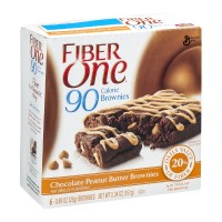 Fiber One 90 Calorie Brownies Chocolate Peanut Butter - 6 CT
