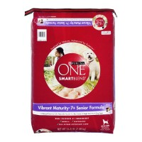 Purina One SmartBlend Adult Dog Food - Vibrant Maturity 7+ Formula 16.5 LB