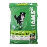 Iams Proactive Health Dog Food - MiniChunks - 1-6 Years 15 LB