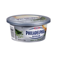 Kraft Philadelphia Regular Chive & Onion Cream Cheese Tub/Spread 8 OZ