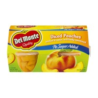 Del Monte Diced Peaches - No Sugar Added - 4 CT / 15.0 OZ