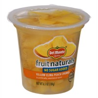 Del Monte Fruit Naturals No Sugar Added Yellow Cling Peach Chunks 6.5 OZ