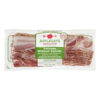 Applegate Naturals Uncured Sunday Bacon Hikory Smoked - Sliced 8 OZ