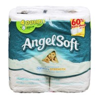 Angel Soft Bathroom Tissue - Double Rolls  - 4 CT