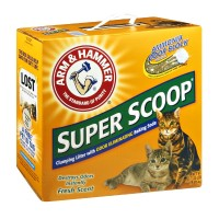 Arm & Hammer Super Scoop Odor Eliminating Clumping Cat Litter w/ Baking Soda 20 LB