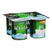 Dannon Activia Nonfat Yogurt - Light - Vanilla 4 CT 16 OZ