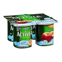 Dannon Activia Nonfat Yogurt - Light - Peach 4 CT 16 OZ