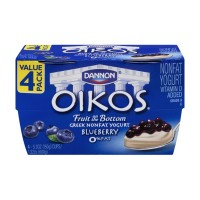 Dannon Oikos Greek Light and Fit Nonfat Yogurt Four Pack - Blueberry 4 CT
