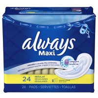 Always Maxi Regular without Wings Unscented Pads - 24.0 CT
