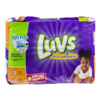 Luvs Diapers Ultra Leakguards Night Lock 3 16-28 lb - 34 CT
