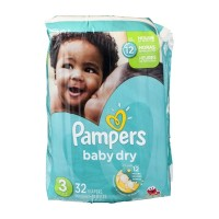 Pampers Baby Dry Size 3 Diapers - 32 CT