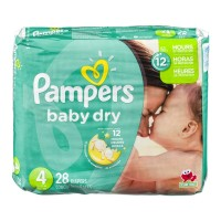 Pampers Baby Dry Size 4 Diapers - 28 CT