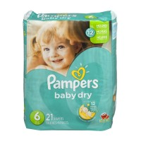 Pampers Baby Dry Diapers Size 6 - 21 CT