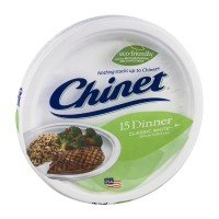 Chinet Dinner Plates Classic White - 15 CT