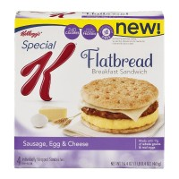 Special K Flatbread Sandwiches - Sausage, Egg And Cheese - 4 CT