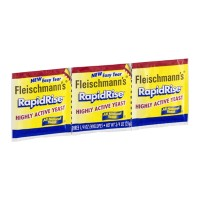 Fleischmann's Rapid Rise Highly Active Yeast - 3 CT 0.75 OZ