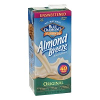 Blue Diamond Almond Breeze - Almond Milk - Original - Unsweetened 1 QT
