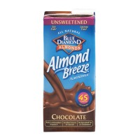 Blue Diamond Almond Breeze Almond Milk - Chocolate - Unsweetened 1 QT