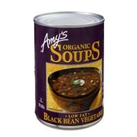 Amy's Kitchen Low Fat Organic Black Bean Vegetable Soup 14.5 OZ