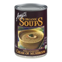 Amy's Organic Soups Cream Of Mushroom Semi-Condensed 14.1 OZ